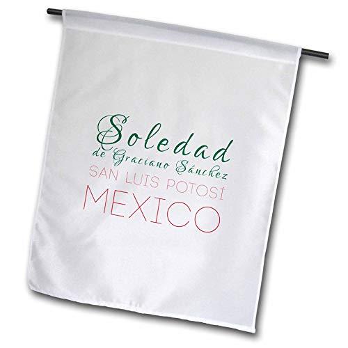 3dRose Alexis Design - Mexican Cities - Soledad de Graciano Sánchez, San Luis Potosi Patriot Mexico Design - 12 x 18 inch Garden Flag (fl_313533_1)