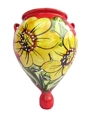 Cactus Canyon Ceramics Wall Planter - Spanish Orza (Sunflower) - Hand Painted in Spain
