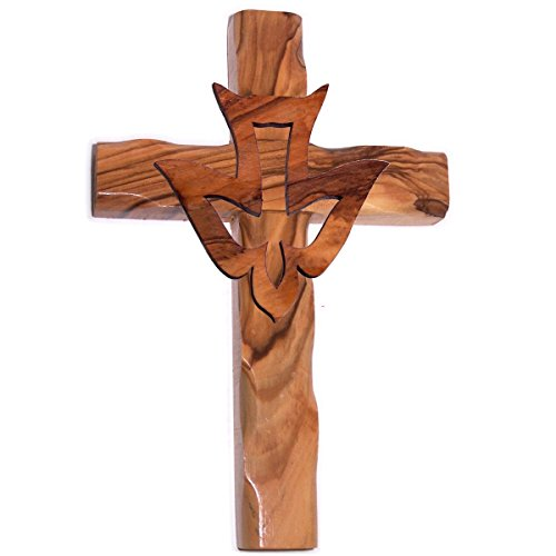 Olive Wood Cross Dove inches product image