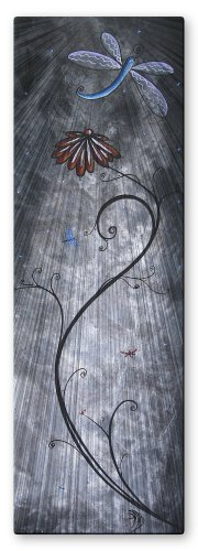 Megan Duncanson 'Dragonfly Assembly' Flower Dragonfly Contemporary Home Décor, Modern Metal Wall Art, Abstract Wall Sculpture