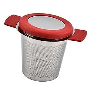 Sharplace Infusor de Té Filtero Accaoriso de Cocina Hecho de Acero Inoxidable Duradero - Rojo