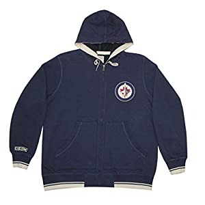 BIG & TALL NHL Mens WINNIPEG JETS Athletic Zip-Up Warm Hoodie / Jacket