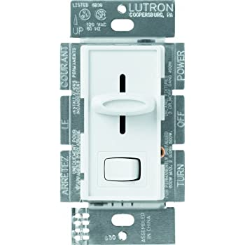 lutron skylark 3 way dimmer for incandescent halogen bulbs with on off switch, 600 watt, s 603p wh, white single pole dimmer switch wiring diagram lutron fan light dimmer switch wiring