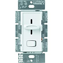 Lutron S-603P-WH Skylark 3-Way Dimmer with On/Off Switch, 600-watt, White