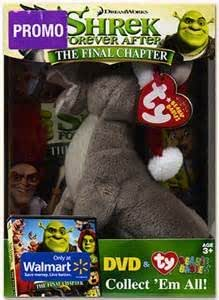 Amazon Com Shrek Forever After The Final Chapter Dvd With Plush Donkey Ty Beanie Babies Mike Meyers Movies Tv