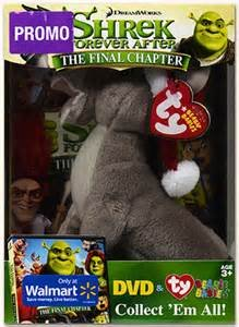 SHREK FOREVER AFTER - The Final Chapter DVD with Plush Donkey TY - Beanie Babies