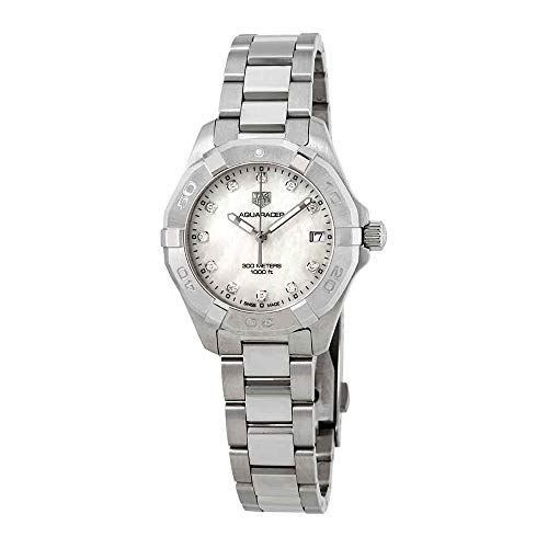 Tag Heuer Aquaracer White Mother of Pearl Diamond Dial Ladies Watch WBD1314.BA0740 ()