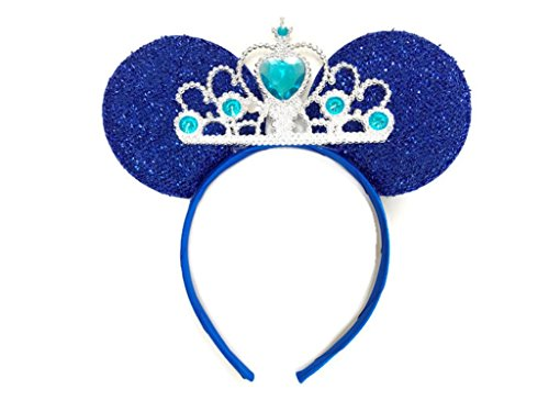 Ears Alien Blue (MeeTHan Mickey Mouse Ears Headband Minnie Mouse ears Tiara headbands : M6 (Blue-L))