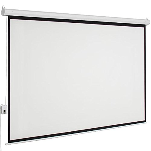Cypressshop White Electric Motorized Projection Screen 100'' HD Movie Projector 4:3 with Remote Control by Cypressshop