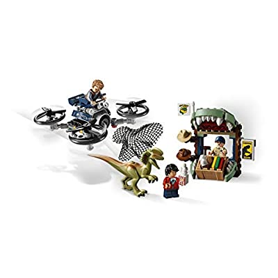 LEGO Jurassic World Dilophosaurus on The Loose 75934 Building Kit (168 Pieces): Toys & Games
