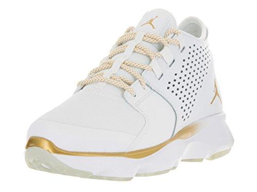 Nike Jordan Men's Jordan Flow White/Mtlc Gold Coin Pr Pltnm Training Shoe 10 Men US (Jordan Gold Shoes)
