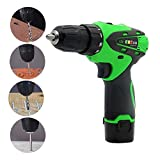 12V Electric Screwdriver Lithium Battery Drill/Drive Charging Drill Sleeve Power Tools, Two-Speed Electric Multi-Function Wire Cutting Electromechanical Drill Home