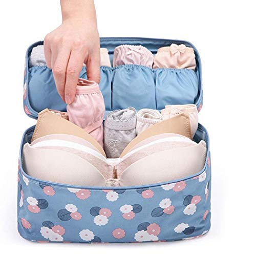 Bluefringe Toiletry Bag Multifunction Cosmetic Bag Portable Makeup Pouch Waterproof Travel Hanging Organizer Bag for Women Girls