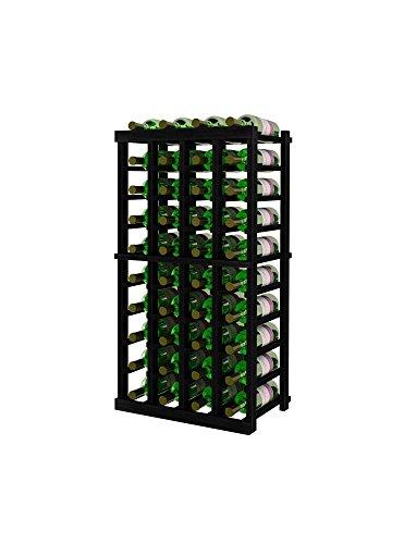 Series Vintner 3 - Vintner Series Wine Rack - 4 Column - 3 Ft - Allheart Redwood Midnight Black Stain