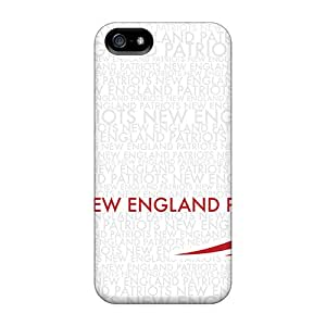 Anti-Scratch Hard Phone Covers For Iphone 5/5s With Custom Stylish New England Patriots Skin PhilHolmes