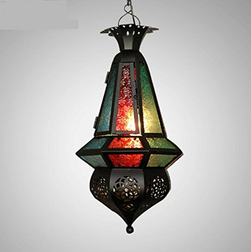 Bohemia Mediterranean pastoral Thai Southeast Asia Moroccan color bar pendant lamp LO118526PY by SUPPER PP