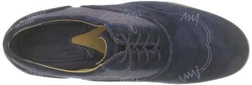 Rockport France Mens Lace-Up Flats Bleu (Navy/Capt. Blue) WKfoG