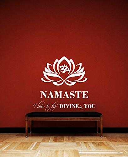 Amazon.com: DreamKraft Namaste Wall Decor Art Stickers Vinyl Decals ...
