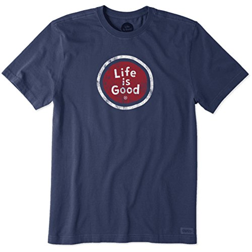 Life Is Good Mens crusher tee Life Is Good Coin, Darkest Blue, Large -  The Life is good Company, 51786-407