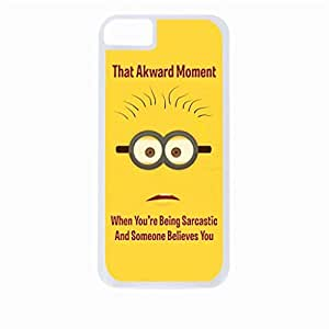 linJUN FENGThat Akward Moment When You're Being Sarcastic and Someone Believes You- Hard White Plastic Snap - On Case-Apple Iphone 5 - 5s - Great Quality!