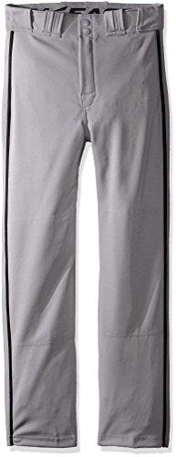 Easton Boys Rival 2 Piped Baseball Pants, Gray/Black, Medium