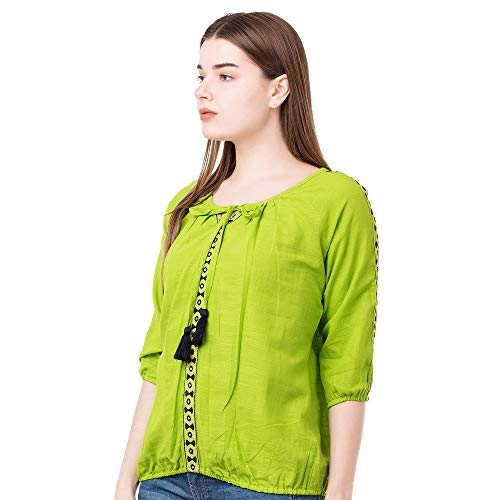 41vBf42M 3L. SS500  - AANIA Beautiful Embroidered Exclusive Casual Cotton Women's Top