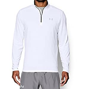 Under Armour Men's Threadborne Streaker 1/4 Zip, White/Reflective, Large