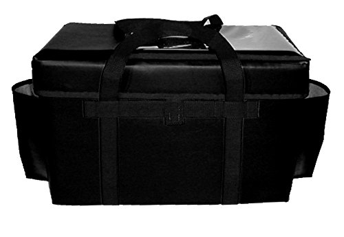 TCB Insulated Bags GFC-Black Insulated Food Service Bag, Holds 8 Meals, 13'' x 22'' x 14'', Black by TCB Insulated Bags