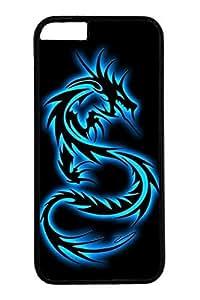 iPhone 6 Case, Personalized Unique Design Covers for iPhone 6 PC Black Case - Black Blue Dragon