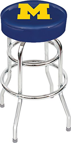 Imperial Officially Licensed NCAA Furniture: Swivel Seat Bar Stool, Michigan Wolverines ()