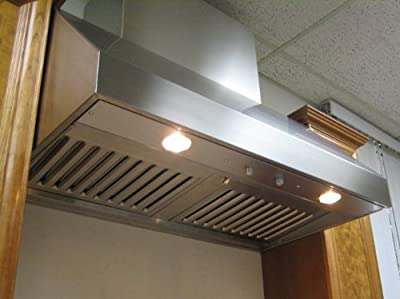 Imperial Wall Canopy Range Hood with Baffle Filters, 36 inch W, 635 CFM