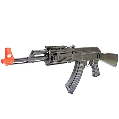 BBTac Black BT22 Airsoft Gun - Full Auto Electric Powered AEG Beginner Starter Airsoft Rifle Shooting LPEG 6mm BBs Pellet