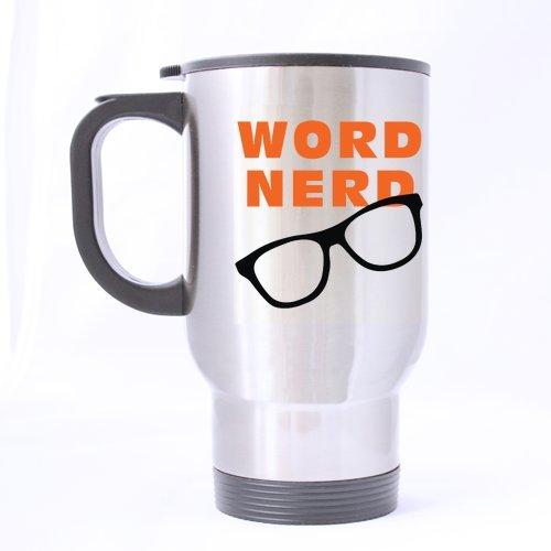 Word-Nerd-Stain-Steel-Travel-Mug-Silver-14-ounces