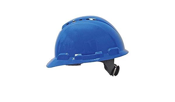 3M H700NBB - H700 Casco con ventilación, azul, arnés de ruleta ...
