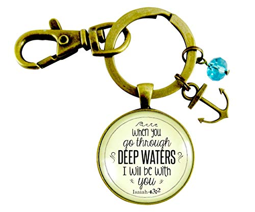 Anchor Keychain Deep Waters Christian Jewelry Inspirational