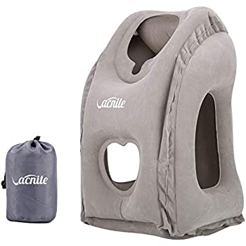 Amazon Com Vacnite Inflatable Travel Pillow For Airplane