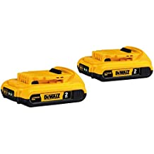 DEWALT DCB203-2 20V Max Lithium-Ion Compact Battery; 2-Pack - (Renewed)