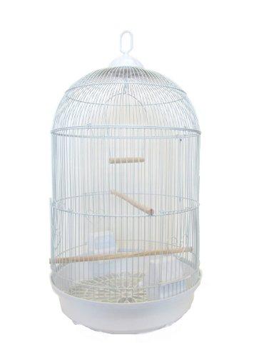 UPC 833775000414, YML Round Tall Cage, White