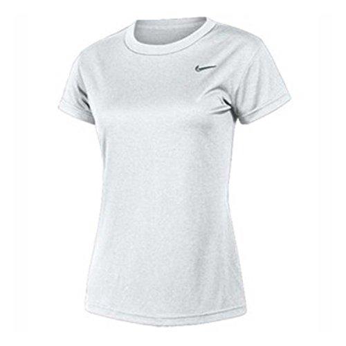 (Nike Women's Short Sleeve Performance Tee Shirt White - XL)