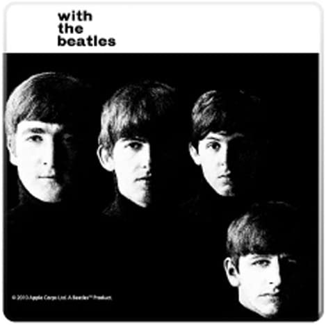 The Beatles 8 Pièce Mini vinyle Coaster Set avec Tin Magnétique Bouteille O