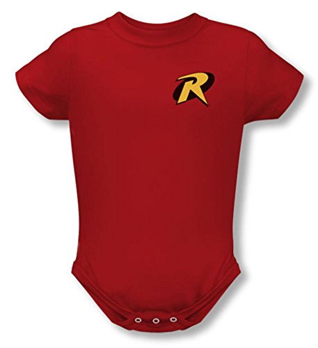 [Infant: Batman - Robin Logo Onesie T-Shirt 1 x 1in] (1960s Batman And Robin Costumes)