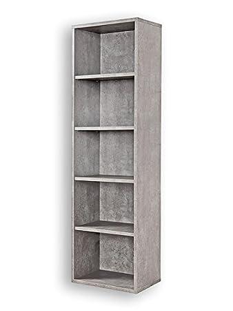 Bücherregal System regal beton bücherregal 4 eb betonoptik click system