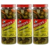 Marconi - The Original Chicago Style Hot Giardiniera - 16 oz (Pack of 3)