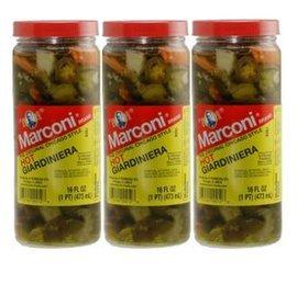 Marconi - The Original Chicago Style Hot Giardiniera - 16 oz (Pack of 3)]()