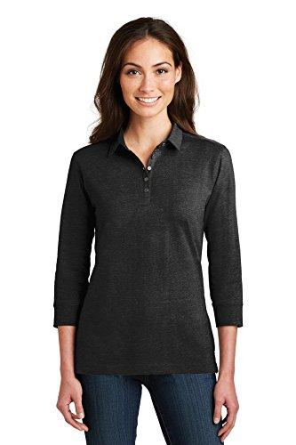 Port Authority Ladies 3/4-Sleeve Meridian Cotton Blend Polo-L578-M
