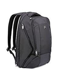 17.3inch Laptop Backpack - Evecase High Utility Office School College Notebook Backpack - Black