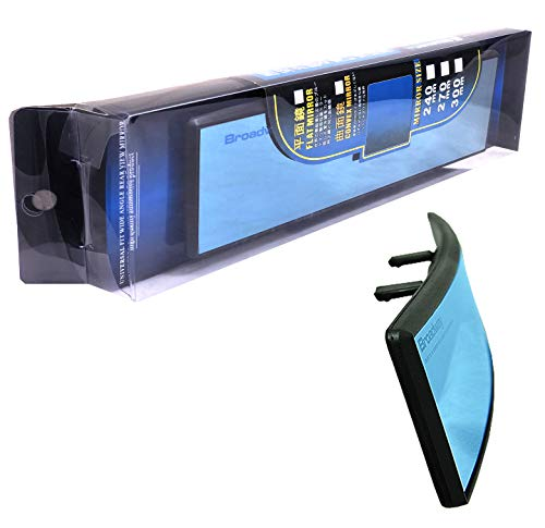 ICBEAMER 240mm Type-A Easy Clip On Convex Surface Mirror Color: Blue Tint Universal Interior Rear Mirror ()