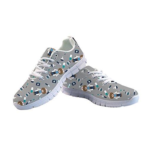 Flat Casual Bears Running 4 12 Walking Shoes Sneakers Nurse US5 Mesh Lightweigh Coloranimal nx6qIXP