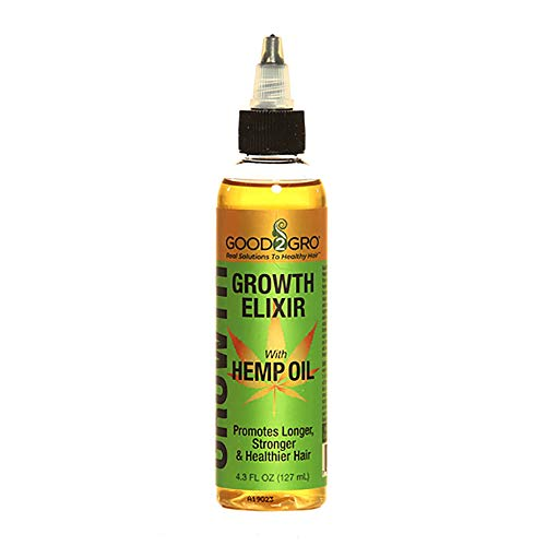 GOOD2GRO HAIR GROWTH ELIXIR W/ORGANIC HEMP OIL - HEMP OIL IS FROM THE CANNABIS PLANT - STIMULATES FASTER HAIR GROWTH - SOOTHES DRY ITCHY SCALP - GREAT FOR LOC'S and -