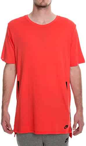 617f87d3ad35 NIKE Men s Sportswear DropTail Bonded Mesh T-Shirt Red 847507 602